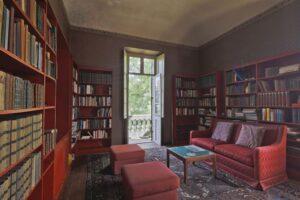 Sala lettura villa storica in vendita domoria torino